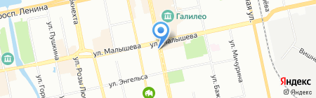 Симпатия на карте Екатеринбурга