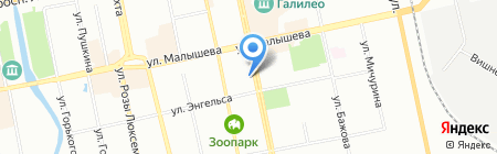 Элком на карте Екатеринбурга