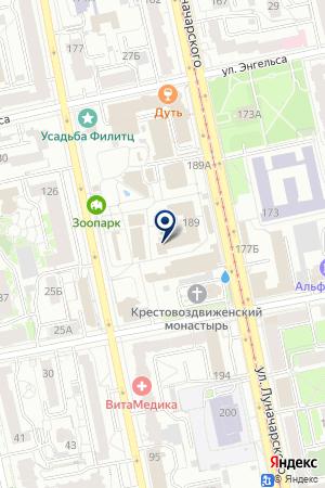 Екатеринбургский зоопарк на карте Екатеринбурга