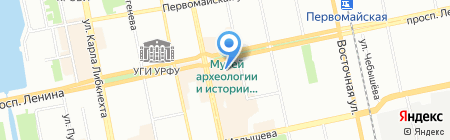 Destina на карте Екатеринбурга