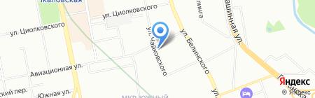 Славянский на карте Екатеринбурга