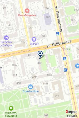 ГеймХаус на карте Екатеринбурга