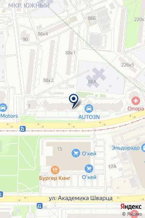 АктивПро на карте Екатеринбурга