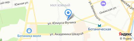Modores на карте Екатеринбурга