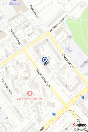 Тонус-клуб на карте Екатеринбурга