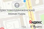 Схема проезда до компании Траст в Екатеринбурге