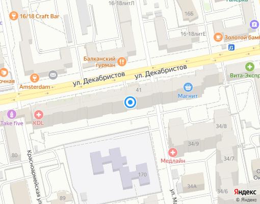 Товарищество собственников жилья «Декабристов 45» на карте Екатеринбурга
