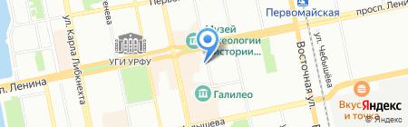 Импровизируй! на карте Екатеринбурга