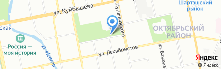 Всё пучком на карте Екатеринбурга