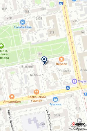 Адвокат-Прайм на карте Екатеринбурга