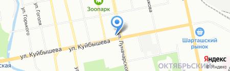 Садовод на карте Екатеринбурга