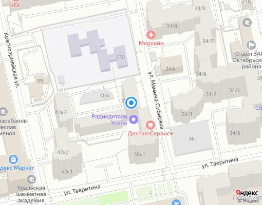 Товарищество собственников жилья «Тверитина 38/3» на карте Екатеринбурга