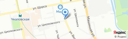 Чкаловское на карте Екатеринбурга