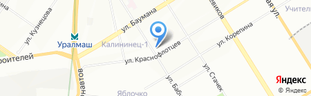 Доктор Боткин на карте Екатеринбурга