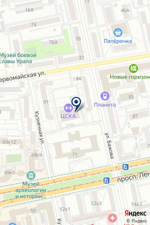 Спортивный центр армии Приволжско-Уральского военного округа на карте Екатеринбурга