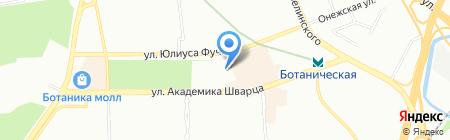Шиномонтажная мастерская на ул. Академика Шварца на карте Екатеринбурга