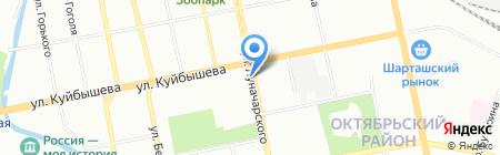 Контакт на карте Екатеринбурга