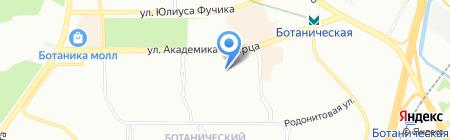 Антей на карте Екатеринбурга