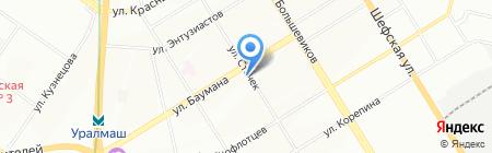 Трикотаж на карте Екатеринбурга