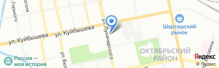 Мегамарт на карте Екатеринбурга