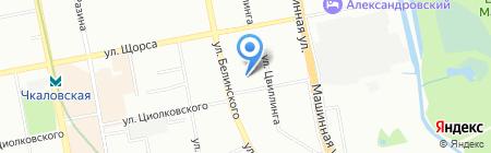 КВАРТАЛ на карте Екатеринбурга