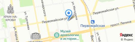 ТриН на карте Екатеринбурга