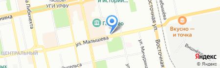 Европейская пекарня на карте Екатеринбурга