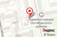 Схема проезда до компании Неон-Профи в Екатеринбурге