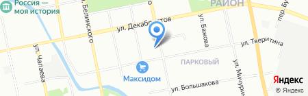 Фолис на карте Екатеринбурга