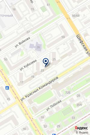 Reflex на карте Екатеринбурга