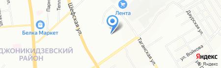 Сеть продуктовых магазинов на карте Екатеринбурга