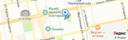 Общежитие на карте Екатеринбурга