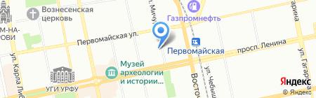Катюша тревел на карте Екатеринбурга