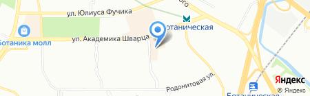 Пышка на карте Екатеринбурга