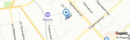 Интерфейс на карте Екатеринбурга