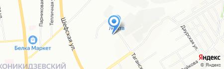 Навигатор на карте Екатеринбурга