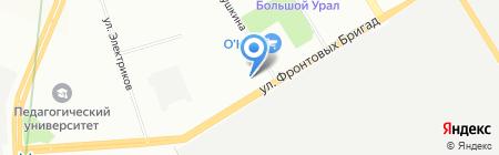 Автокор на карте Екатеринбурга