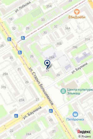 КОМПАНИЯ ПОЛЕТ на карте Екатеринбурга