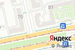Схема проезда до компании Королевство Красоты в Екатеринбурге