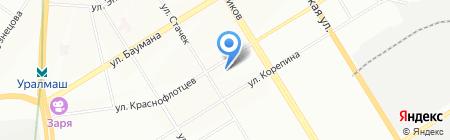 Средняя общеобразовательная школа №67 на карте Екатеринбурга