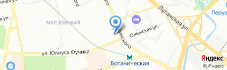 Оренбургские платки на карте Екатеринбурга