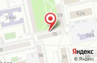 Схема проезда до компании Каст в Екатеринбурге