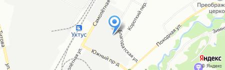 Артель-Екатеринбург на карте Екатеринбурга