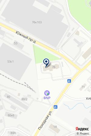 Походная на карте Екатеринбурга