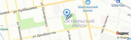 На горке на карте Екатеринбурга