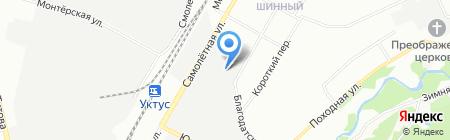 БСУ на карте Екатеринбурга