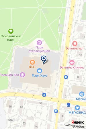 Планета Боулинг на карте Екатеринбурга