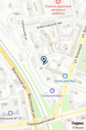 Автостоянка вАсбестовском переулке 2Б на карте Екатеринбурга