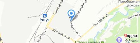 Кучер на карте Екатеринбурга