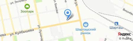 Дверона на карте Екатеринбурга
